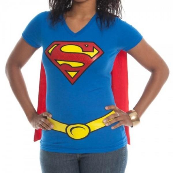 99dc89d1999fd Supergirl Caped T-Shirt