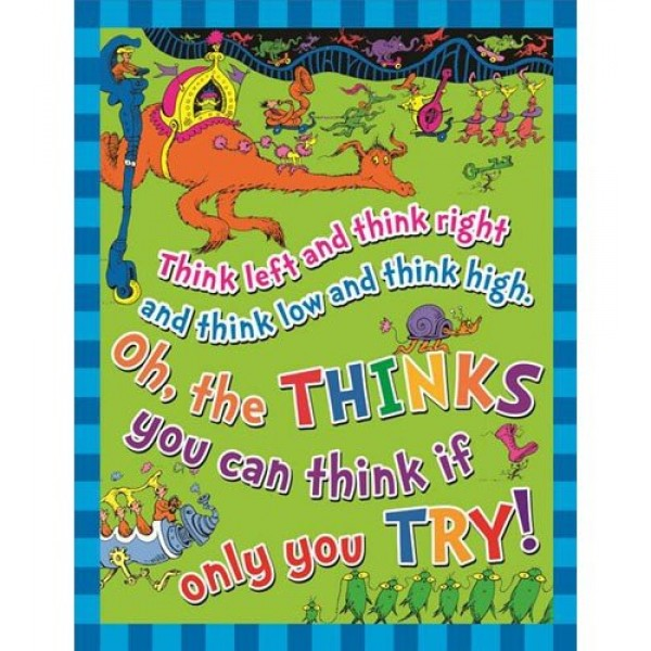 """Dr Seuss Quotes Oh The Thinks You Can Think: Dr. Seuss """"The Thinks You Can Think"""" Poster"""