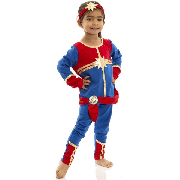Captain Marvel Toddler Costume A Mighty Girl Deluxe captain marvel kree suit girls costume. captain marvel toddler costume a