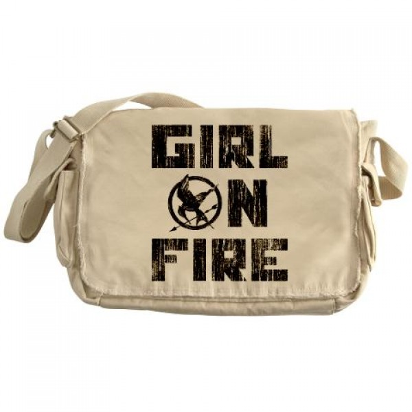 The Hunger Games Girl On Fire Messenger Bag A Mighty Girl