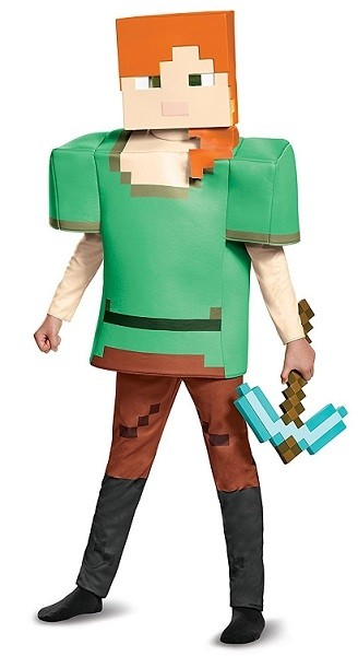 Girls Minecraft Alex Classic Halloween Costume