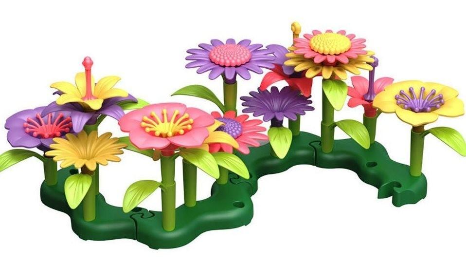 Build a Bouquet Floral Arrangement Playset Flower Garden Building Toys