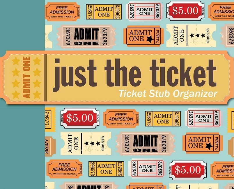 Just the Ticket: Ticket Stub Organizer | A Mighty Girl