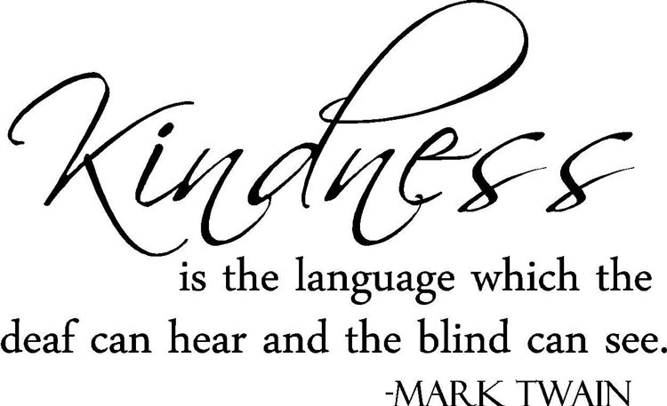 mark twain quote kindness is the language vinyl wall art