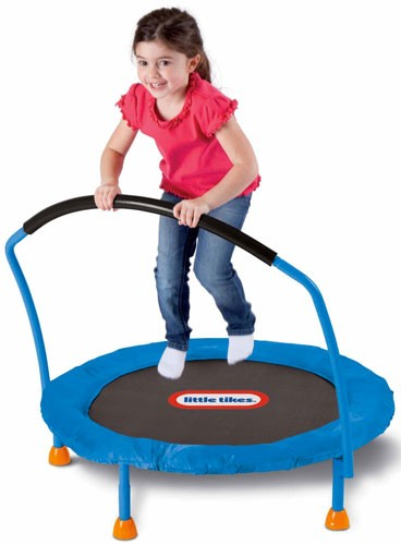 Mini Trampoline With Handle A Mighty Girl
