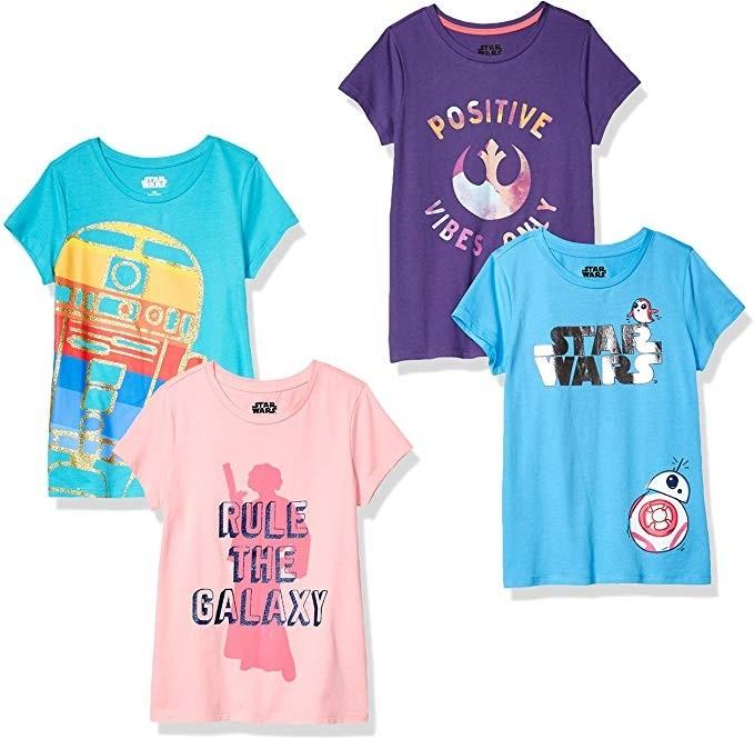 Star Wars Kids T Shirt Last Jedi Porgs Childrens All Over Print New Official Beige