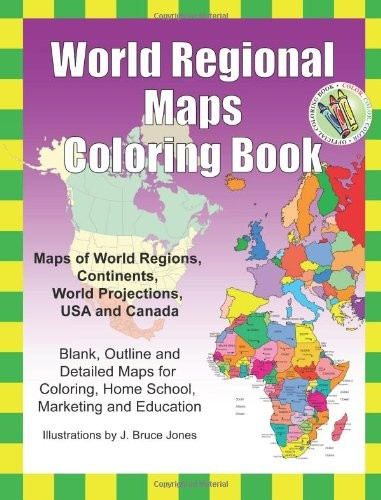 world regional maps coloring book - Map Coloring Book