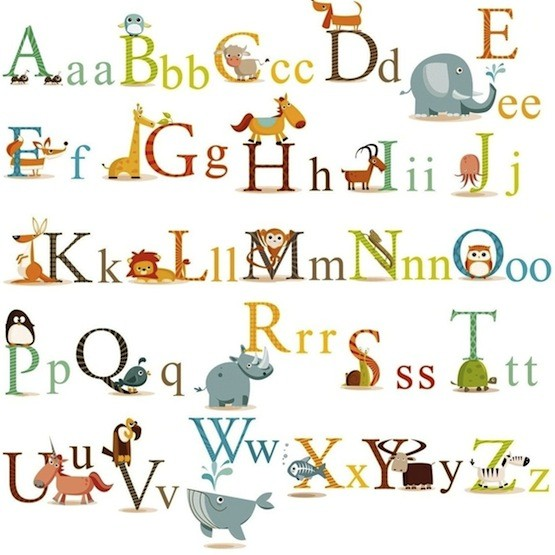 Animals Alphabet Wall Decals A Mighty Girl