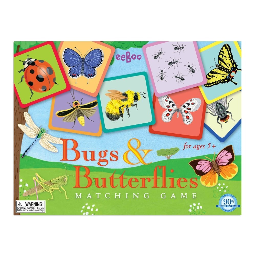 bugs and butterflies travel matching game a mighty girl