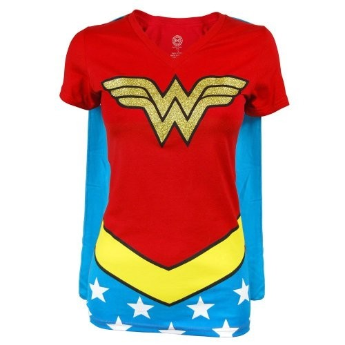 0262406b345 Wonder Woman Caped T-Shirt
