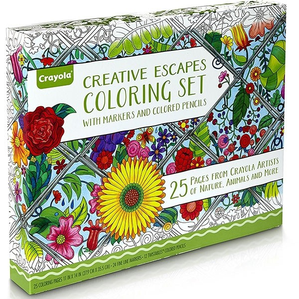 Creative Escapes Coloring Book And Marker Art Activity Set