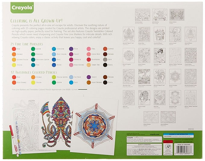 Crayola Creative Escapes Coloring Book Marker Art Activity Set