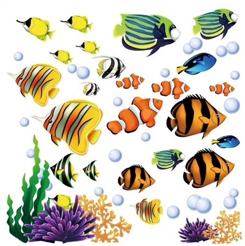 tropical fish wall decals a mighty girl