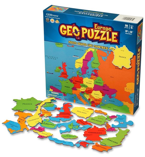 Geography Puzzle Europe A Mighty Girl
