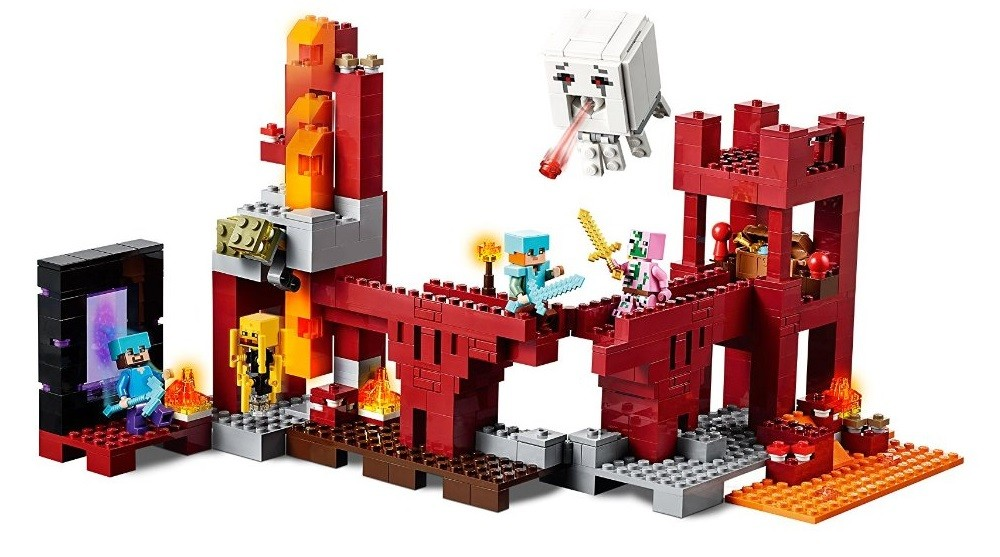 lego minecraft the nether fortress a mighty girl