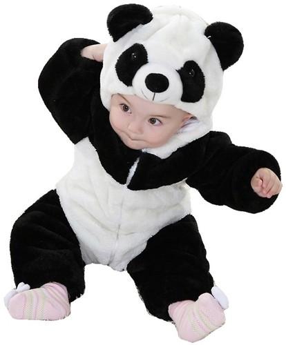 infant toddler panda costume a mighty girl. Black Bedroom Furniture Sets. Home Design Ideas