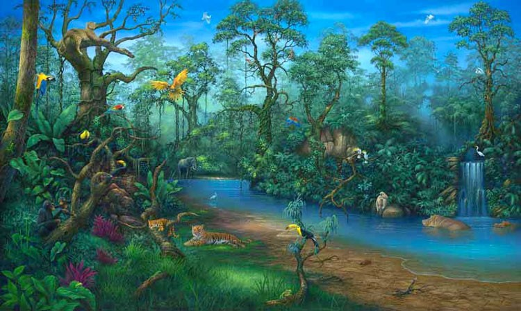Jungle Dreams Wall Mural Part 33