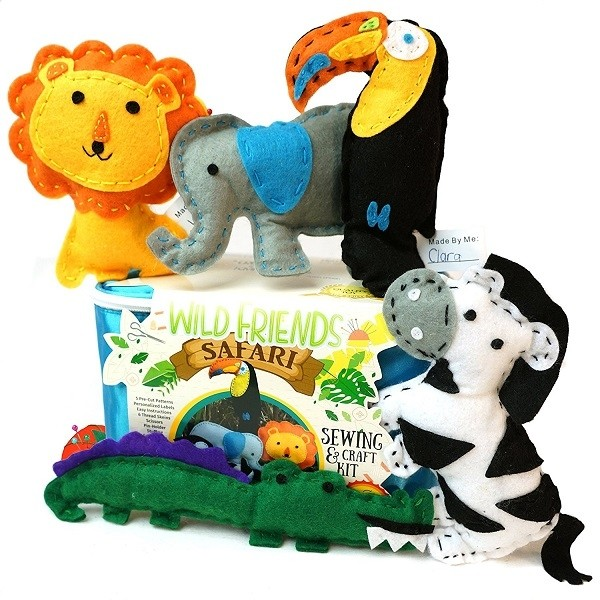 Wild Friends Safari Sewing And Craft Kit A Mighty Girl