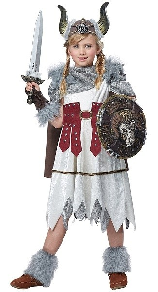 Viking Warrior Costume  sc 1 st  A Mighty Girl & A Historical Halloween: History-Inspired Mighty Girl Costumes | A ...