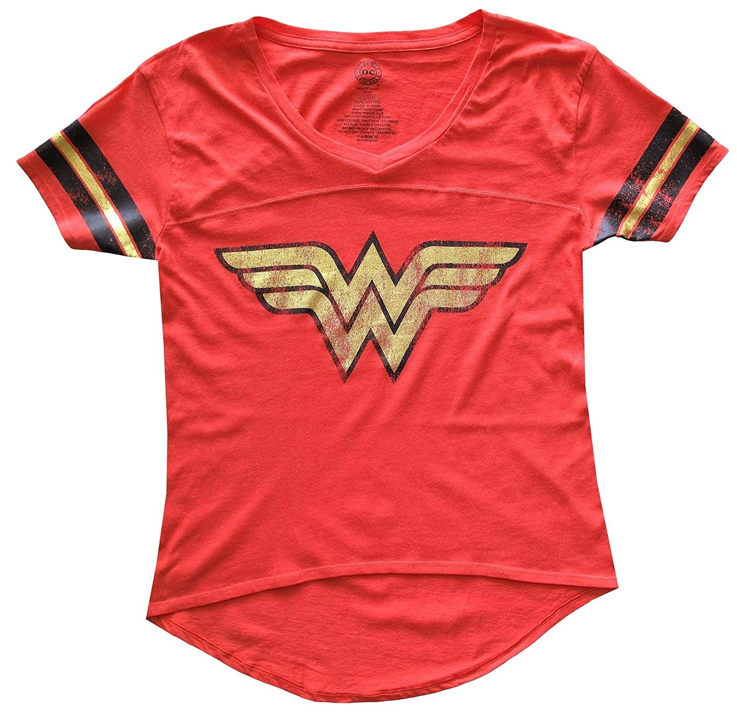 60273a6a3c5 Wonder Woman Gold Foil Logo Shirt