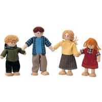 Caucasian Dollhouse Family