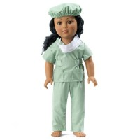 "Doctor/Vet Outfit For 18"" Doll"