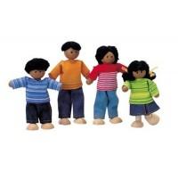 Ethnic Dollhouse Family