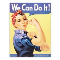 Rosie The Riveter Tin Sign