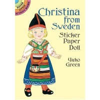Christina from Sweden Sticker Doll