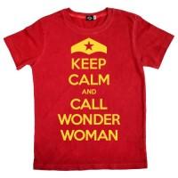 Keep Calm and Call Wonder Woman Children's T-Shirt