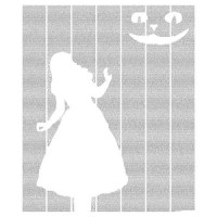 Alice In Wonderland And Cheshire Cat Typography Poster