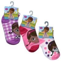 Doc McStuffins Preschooler Ankle Socks 3-Pack