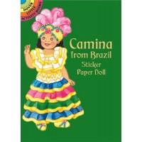 Camina from Brazil Sticker Doll