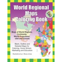 World Regional Maps Coloring Book
