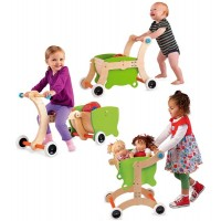 1-2-3 Grow With Me Wooden Walker / Ride-on Toy / Tricycle