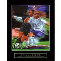 Challenge Yourself Soccer Motivational Poster