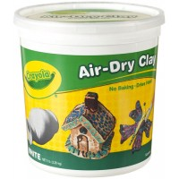Crayola White Air-Dry Clay, 5lb.