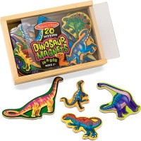 Magnetic Wooden Dinosaurs in a Box