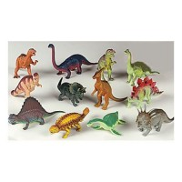 Assorted Large Dinosaur Figures - 12 piece set