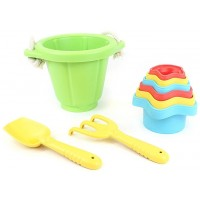 Green Toys Sand Play Set with Stacking Cups Toy