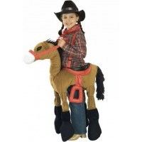 Brown Horse and Cowgirl Costume