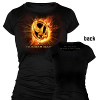 The Hunger Games Flaming Mockingjay T-Shirt