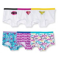 Justice League Girlshorts 6-Pack