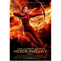 Mockingjay Poster: Katniss and Bird On Fire