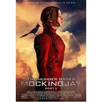 Mockingjay Poster: Katniss with Mockingjay on Shoulder