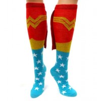 Wonder Woman Caped Knee Socks