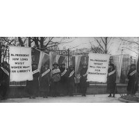 Women Suffragists Art Poster Print