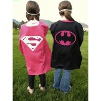 Reversible Supergirl-Batgirl Cape Costume