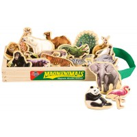 Wild Animals Wooden Magnets