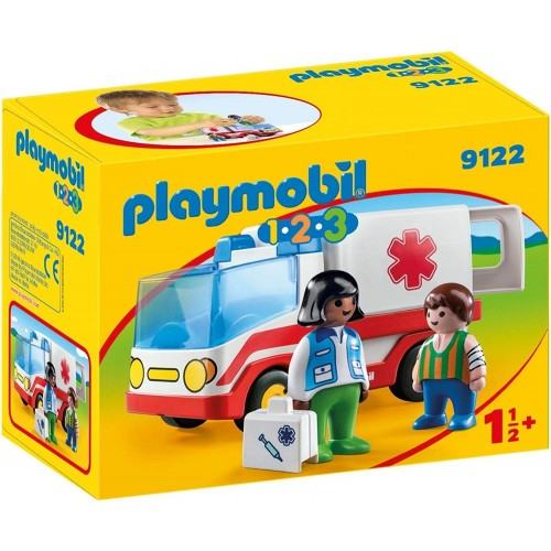 Playmobil 1-2-3 Rescue Ambulance Set